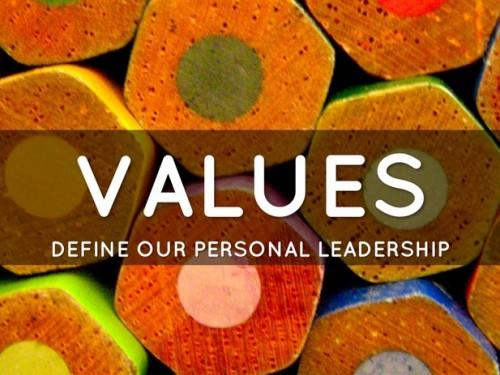 values define personal leadership