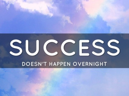 success doenst happen overnight - leaders face failure and thrive