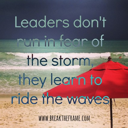 leaders ride the waves