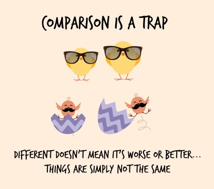 Comparison Traps focus on the gaps and miss the good