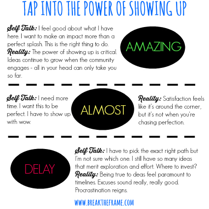 tap into the power of showing up
